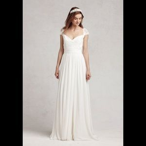Bliss by Monique Lhuillier silk wedding gown